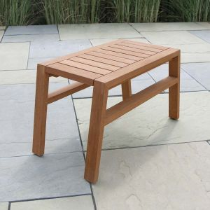 teak wood outdoor table - Summit high stacking side table