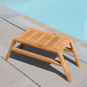 Summit stacking outdoor teak side table