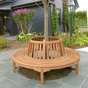 Windermere circular teak curved tree bench.