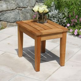 Berwick low nesting side table / teak wood end table
