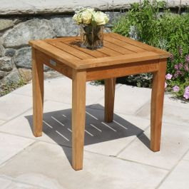 teak accent table - Berwick high nesting side table