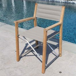 teak directors chairs - Campana director's chair in taupe