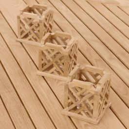 Chippendale votives - set of 3.