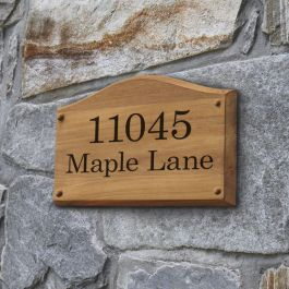 Estate wall-mount address plaque