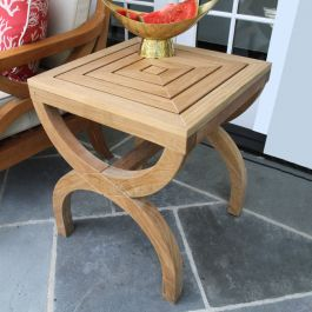Fiori high teak side table