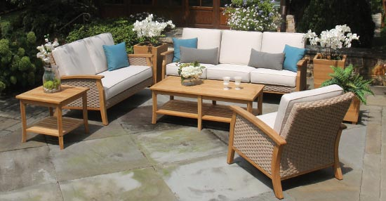 Sawgrass teak and all weather wicker collection