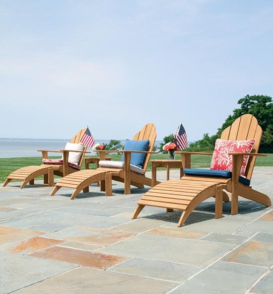 Adirondack teak outdoor lounge furniture