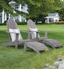 Adirondack Teak Outdoor Furniture Collection