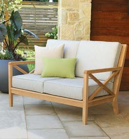 Apex Teak Outdoor Lounge Furniture Collection