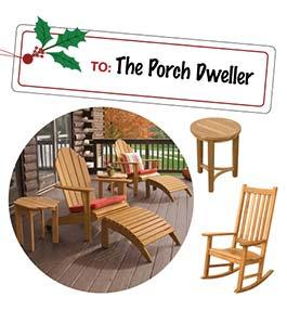 Teak Patio Furniture - Rocking Chairs and Adirondacks
