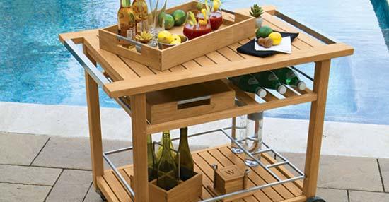 Cucina Teak Bar Cart