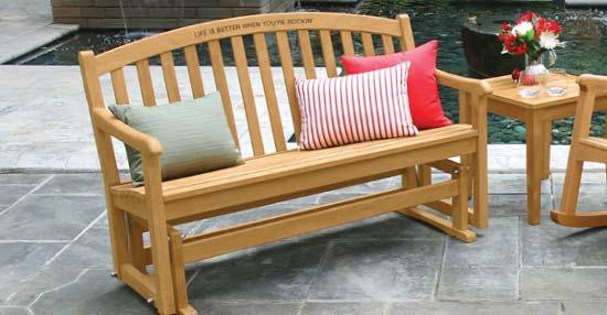 Outdoor Teak Furniture - Teak Glider