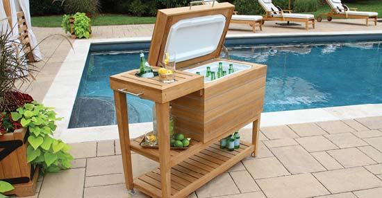 Cucina Teak Cooler Cart