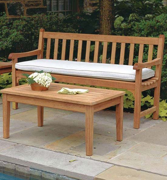 Teak Patio Furniture - Clifton Teak Bench