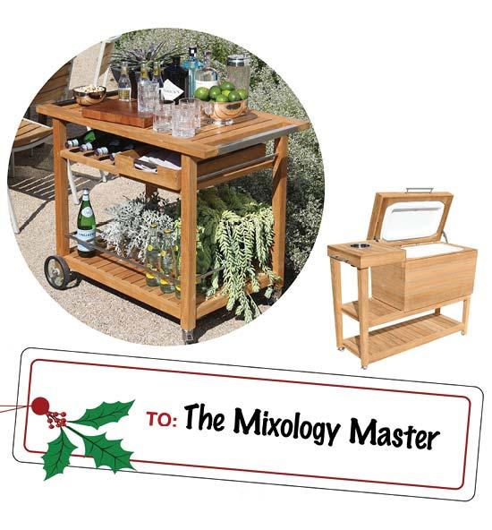 Teak Bar and Cooler Carts