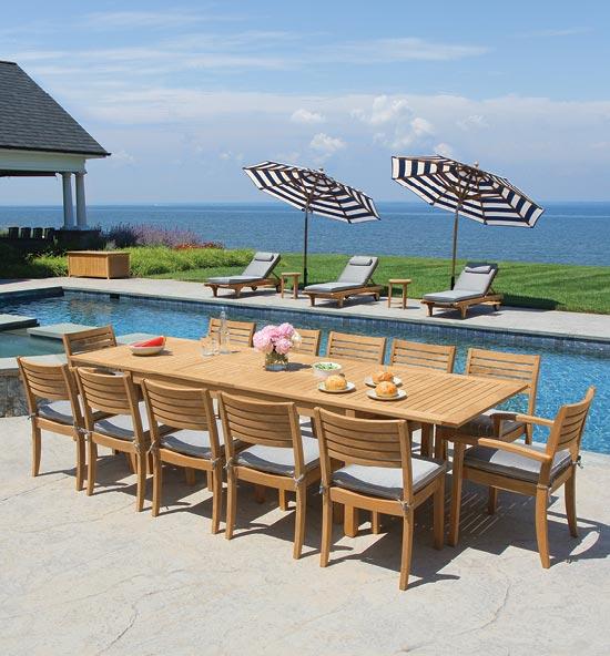 Outdoor Teak Furniture - Teak Dining Tables