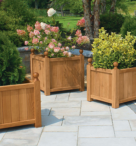 Estate Teak Planter Collection