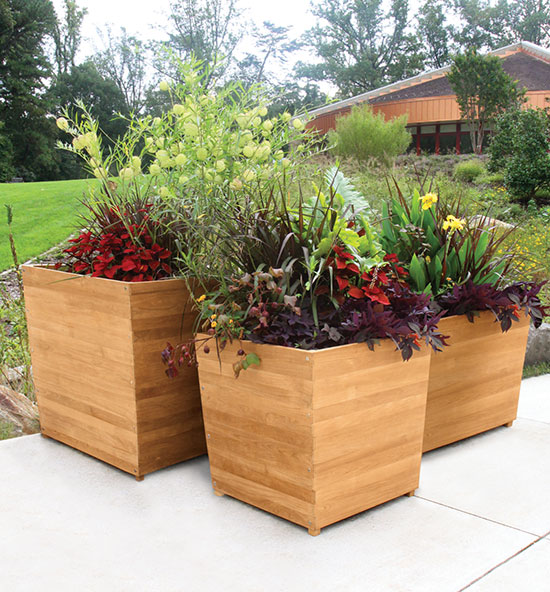 Studio Teak Planter Collection
