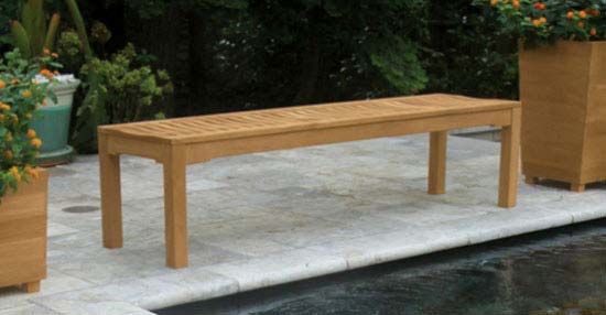 Foxhall Teak Backless Bench