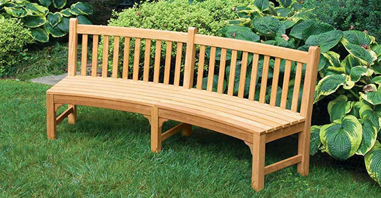 Curved Teak Benches