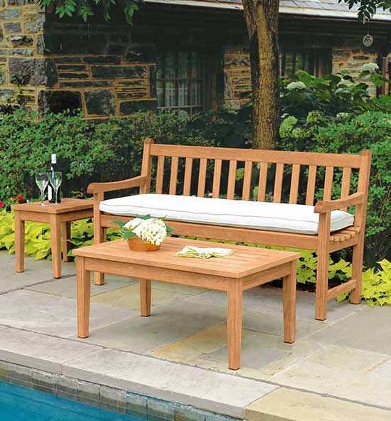 Compact-Scale Teak Benches