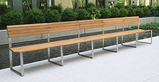 Contemporary Teak Benches