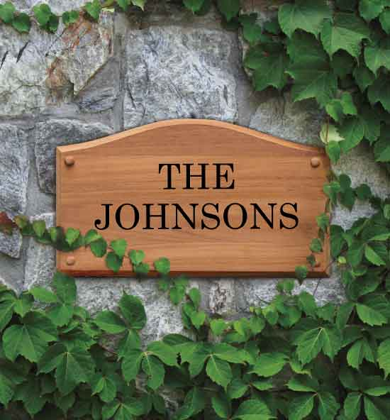 Teak Engraved Wall-Mount Plaques