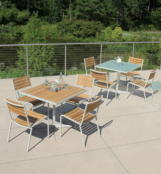 Ethos dining and bar furniture collection.