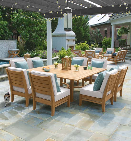 Fiori Teak Outdoor Dining Sets
