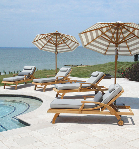 Fiori teak pool lounge chairs