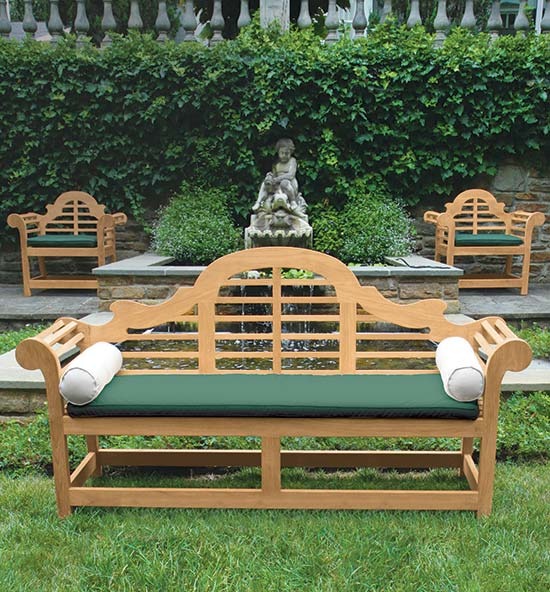 Large-Scale Teak Benches