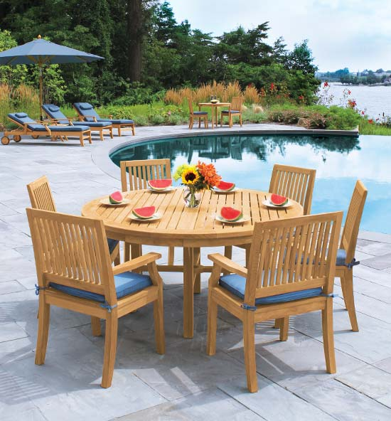 Seneca Teak Outdoor Dining Furniture