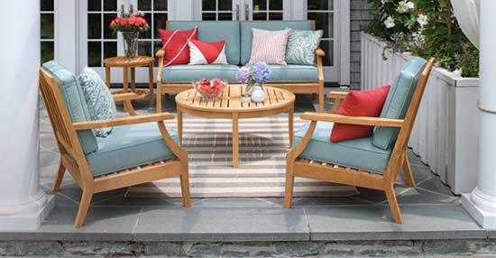 Seneca Teak Outdoor Furniture Collection