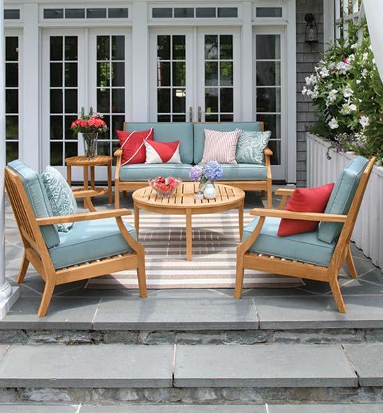 Seneca teak outdoor furniture