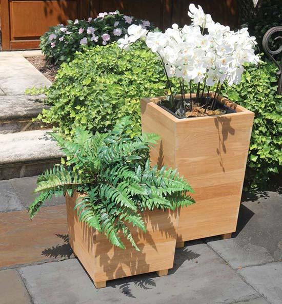 Studio Teak Planter Collection