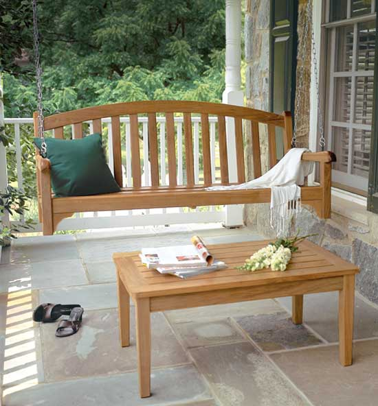 Teak Porch Swings and Gliders