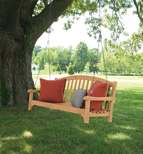 Outdoor Teak Porch Swing