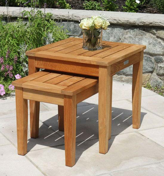 Berwick Teak Nesting Side Tables