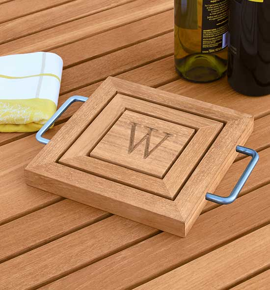 Personalized Teak Trivets