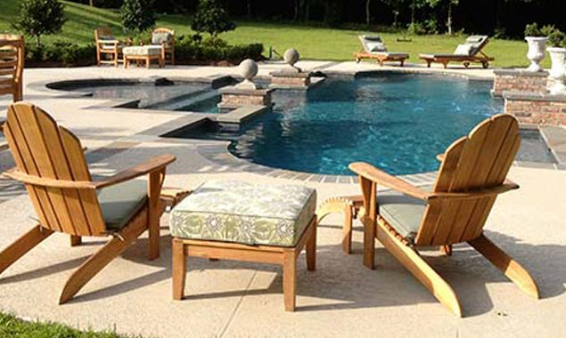 Delightful The Designer And Homeowners For This Magnificent Pool Space Chose Country  Casual Teak Furniture ...