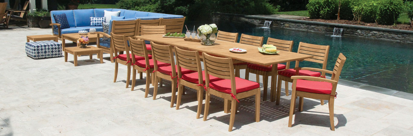 teak outdoor furniture collections