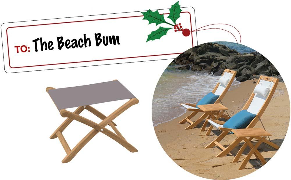 Beach Lover Gift Ideas- Teak Beach Chair