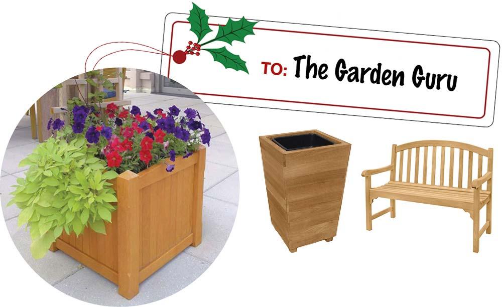 Garden Lover Gift Ideas- Teak Planters