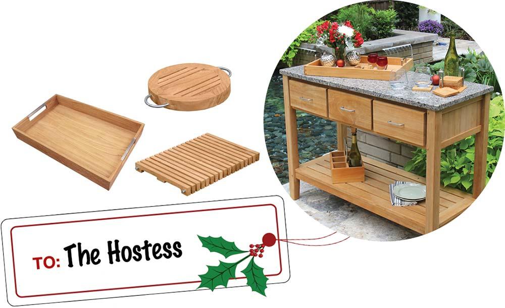 Hostess Gift Ideas - Teak Dining Accessories