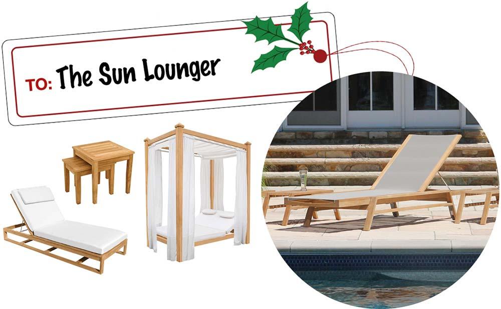 Sun Lounger Gift Ideas- Teak Chaises