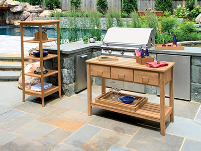 Berwick Grilling Outdoor Side Table