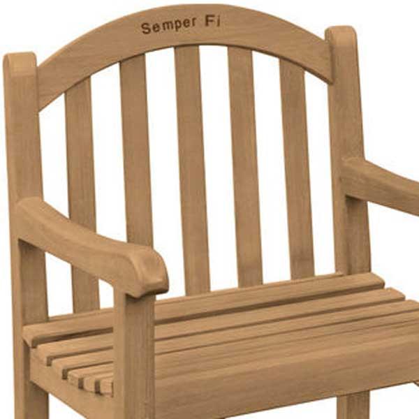 Semper Fi Teak Bench Armchair
