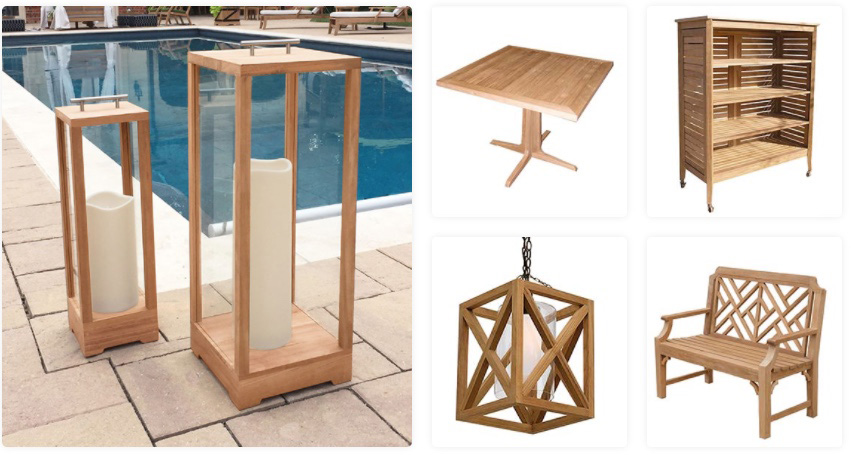Custom Teak Product Designs