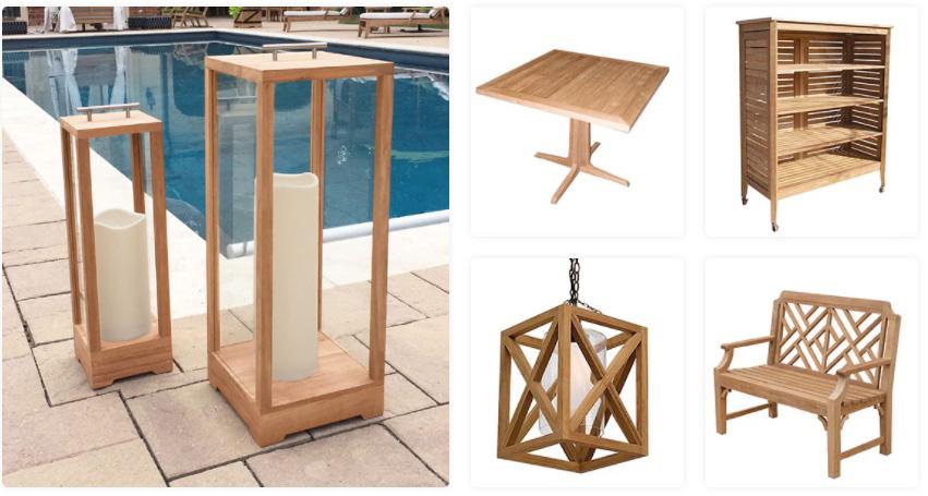 Custom Teak Product Designs