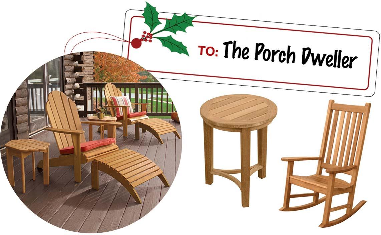 Porch Lover Gift Ideas - Teak Adirondack Chairs